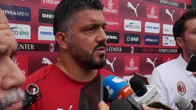 """Gattuso: """"Bonucci? Bisogna rispettare le scelte dei giocatori"""""""