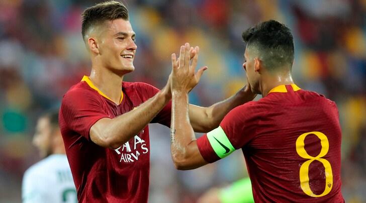 Roma-Avellino 1-1, Di Francesco applaude bomber Schick: «È partito benissimo»