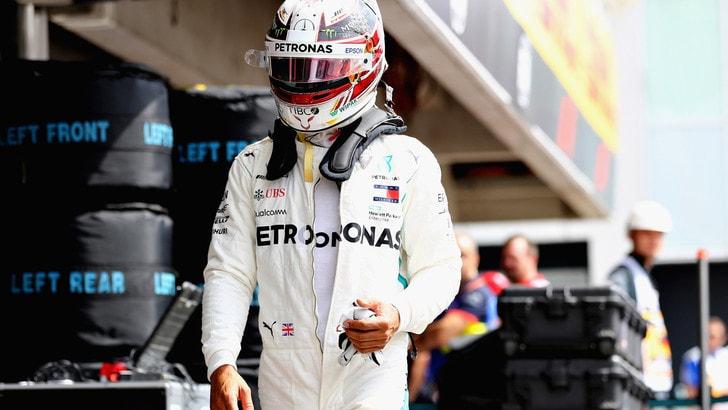 F1 Germania, la delusione di Hamilton: «Impossibile rimontare qui»