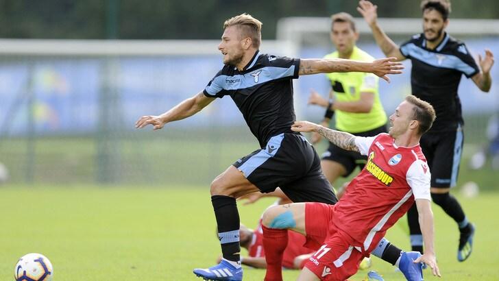 Lazio-Spal 3-0: Immobile, che cucchiaio