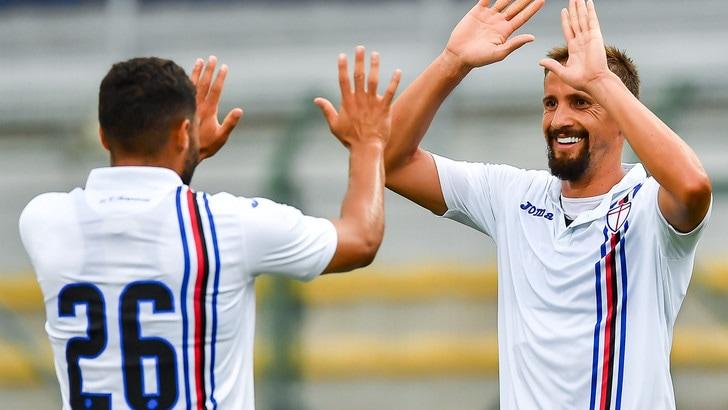 Sampdoria-Parma 3-1: tris di Quagliarella, Jankto e Drefrel