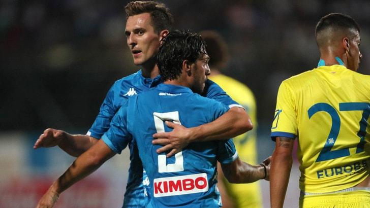 Napoli, vittoria contro il Chievo in amichevole