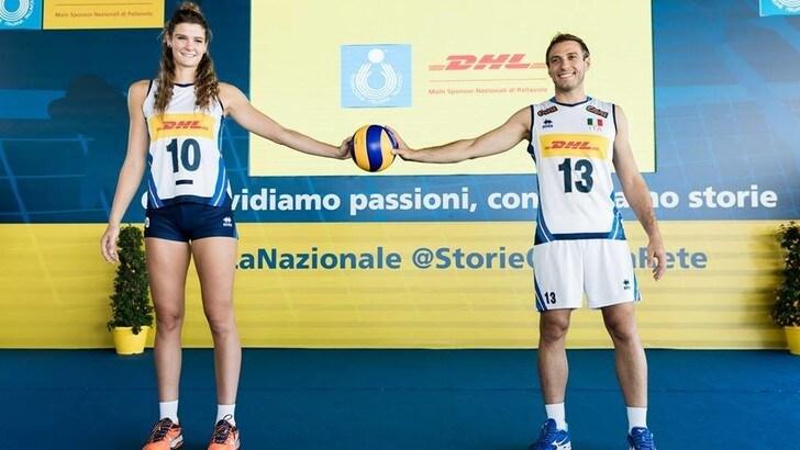 Volley: gli azzurri fanno visita a casa DHL