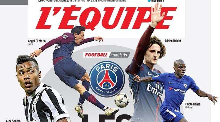 L'Equipe: «Alex Sandro in pole nella lista del PSG»