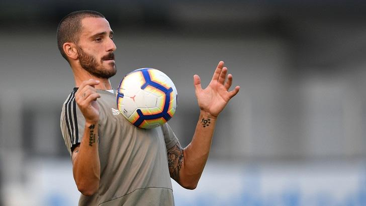 Juventus, primo allenamento per Bonucci
