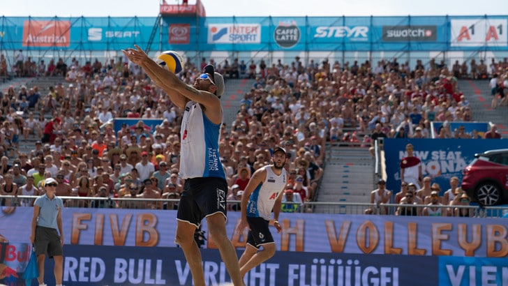 Beach Volley: a Vienna eliminati Lupo-Nicolai