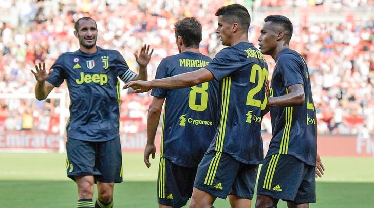 Juventus, il Real vince 3-1: sorriso Cancelo, distrazioni in difesa