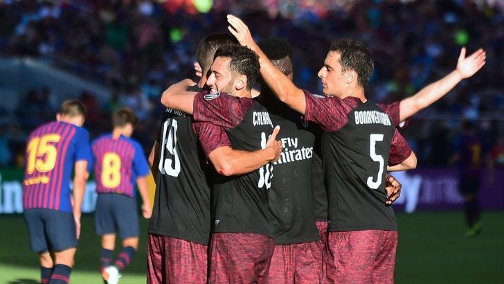 Il Milan soffre ma vince: André Silva stende il Barcellona al 93'