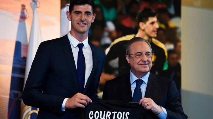 Real Madrid, Courtois:«È un sogno». E Perez:«È il migliore al mondo»