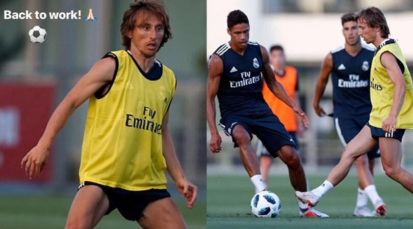La telenovela Modric-Inter: il croato si allena a Valdebebas