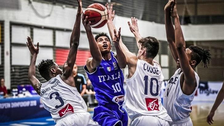 Basket Nazionale U16, Azzurri travolti dalla Francia