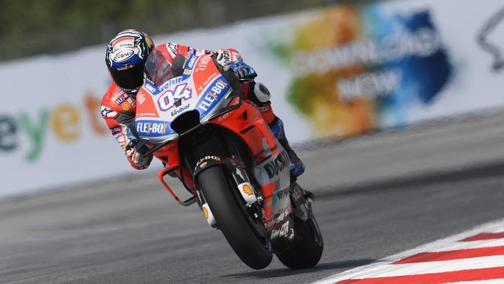 MotoGp Austria, Dovizioso: «La prima fila mi soddisfa»