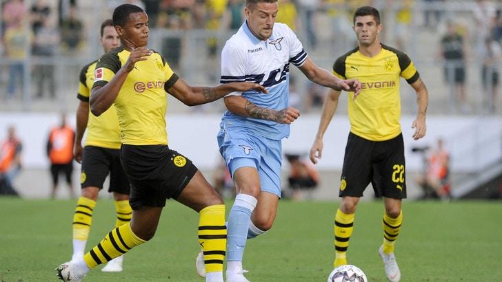 Lazio sconfitta di misura 1-0 contro il Borussia Dortmund