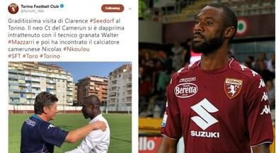 Torino: il ct Seedorf fa visita al camerunense Nkoulou