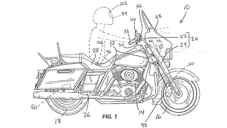 Harley-Davidson studia la frenata automatica