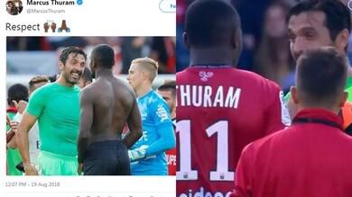 Buffon scambia la maglia con il figlio di Thuram