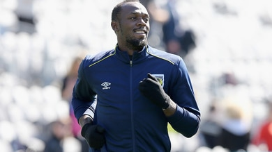 Il primo allenamento di Bolt calciatore