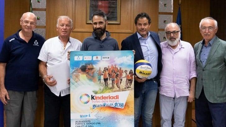 Beach Volley: a Porto San Giorgio taglio del nastro per la 15a edizione delle Kinderiadi