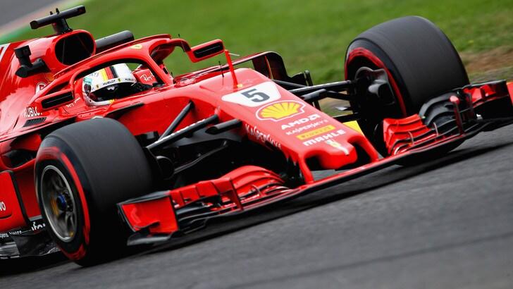 F1 Belgio, Libere 3: Vettel è il più veloce, Raikkonen lo insegue