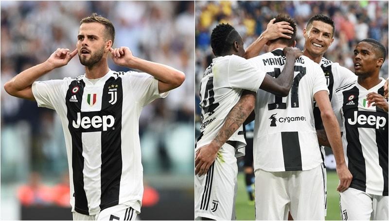"Juventus-Lazio, Pjanic festeggia il rinnovo. Mandzukic ""salva"" Ronaldo"