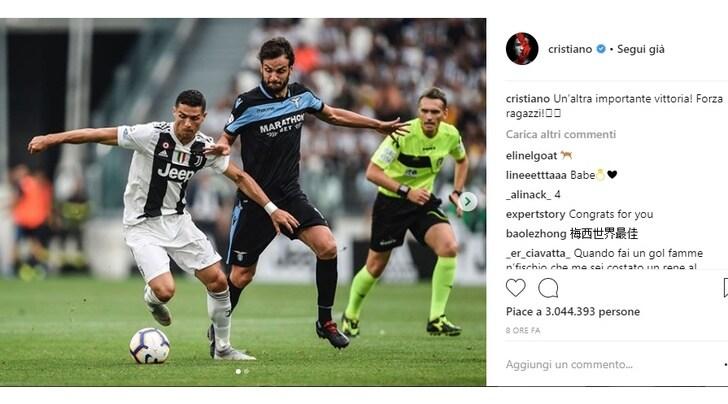 Juventus, Ronaldo: «Un'altra vittoria importante! Forza ragazzi»