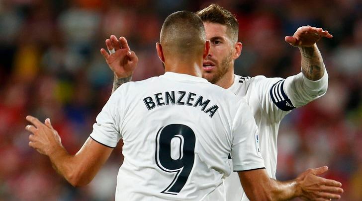 Liga: doppietta di Benzema, il Real batte 4-1 il Girona