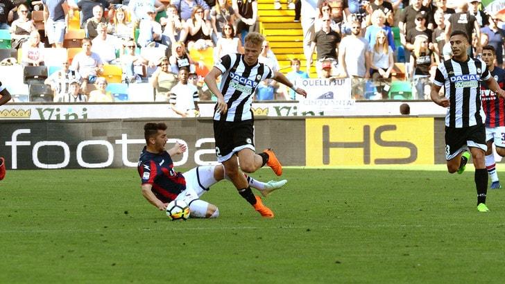 Serie A Udinese, Barak: risentimento al quadricipite