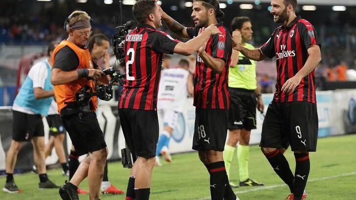 Serie A, nello scontro con la Roma Milan in vantaggio