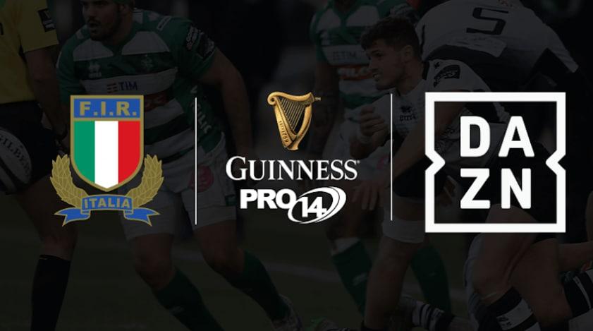 Su DAZN il Guinness PRO14 con Zebre RC e Benetton Rugby