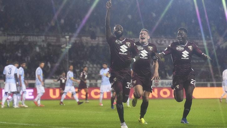 Torino a segno con N'Koulou sotto il diluvio: Spal ko. Esordio di Zaza