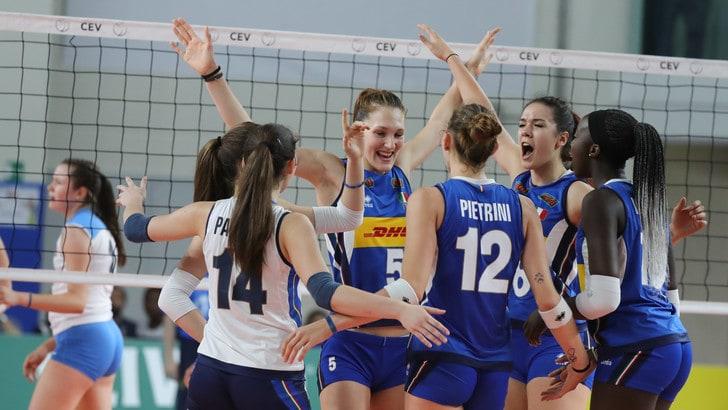 Volley: Europei Under 19, per l'Italia terza vittoria e semifinale ad un passo