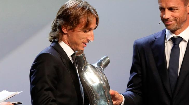 Modric: «Ronaldo? Mi ha fatto i complimenti per il premio Uefa»