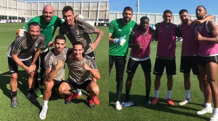 Juventus, buonumore alla Continassa. CR7 e De Sciglio rispondono a Benatia…