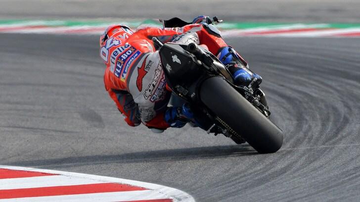 MotoGp Misano, Libere 2: dominio Ducati con Dovizioso e Lorenzo, 8° Rossi
