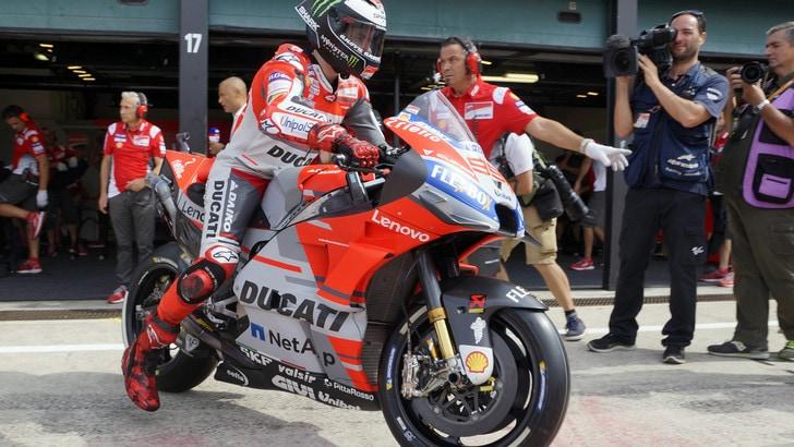 MotoGp Misano, Ducati, Lorenzo: «Ho spinto molto, sono contento»