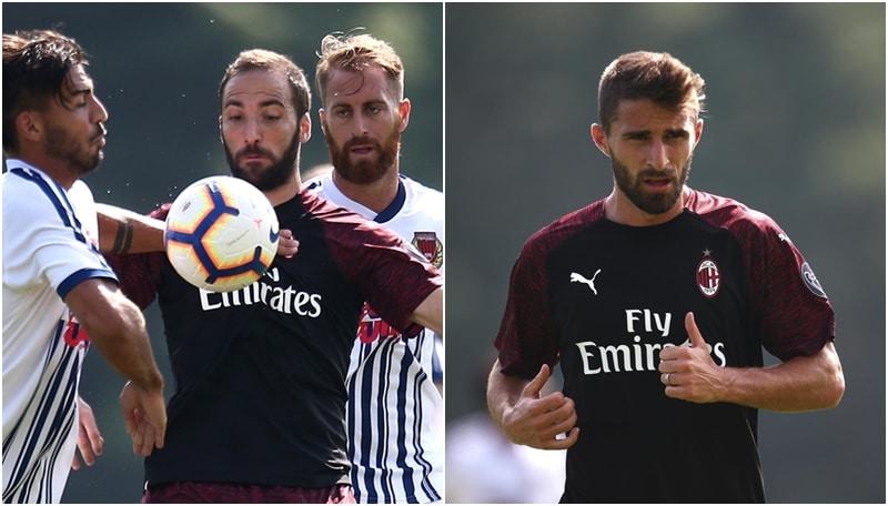 Gli uomini di Gattuso hanno battuto la squadra di C guidata da Giannichedda. Partita particolare per Paolo Maldini, in campo sono scesi entrambi i figli