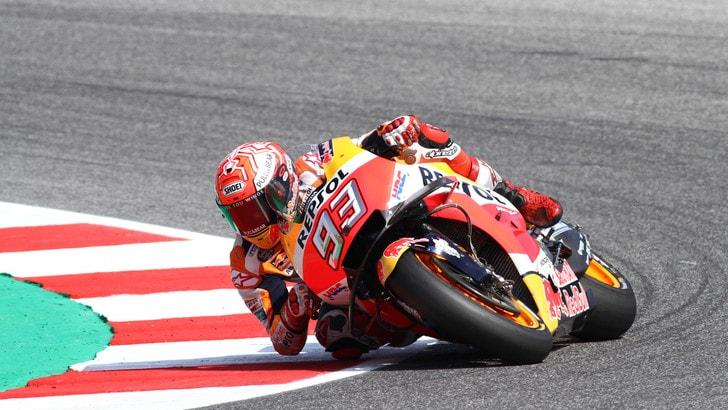 MotoGP Misano: nel warm up Marquez è il più veloce