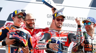 MotoGp, che gioia di Dovizioso sul podio!