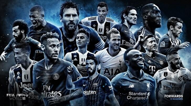 Top 11 FIFPro e FIFA, ecco i 55 candidati: c'è tanta Juventus