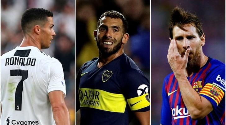 Tevez: «Vi spiego in cosa Ronaldo è migliore di Messi»