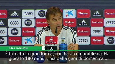 "Lopetegui avverte la Roma: ""Bale è in gran forma"""