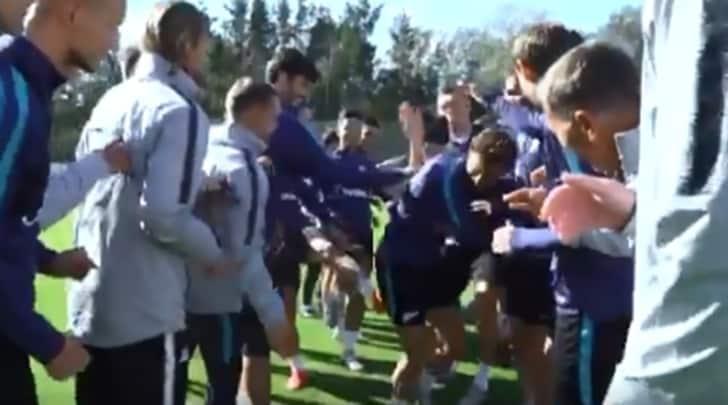 Zenit, Marchisio e il rude rito di iniziazione russo