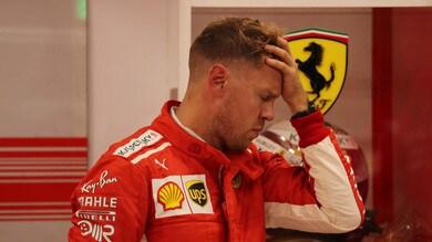 F1 Singapore, Ferrari, Vettel: «Prova deludente».