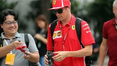F1 Singapore, Ferrari, Raikkonen: «Qui se sbagli cresce il distacco»