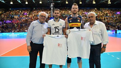 Volley: Mondiali 2018, la maglia del centenario di Mandela a Zaytsev e De Cecco