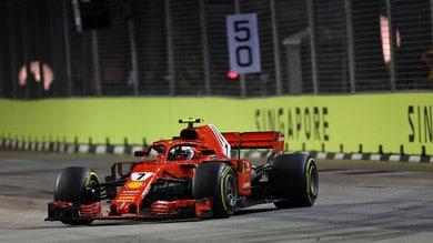 F1 Singapore, Raikkonen sbotta: «Problemi con le gomme»