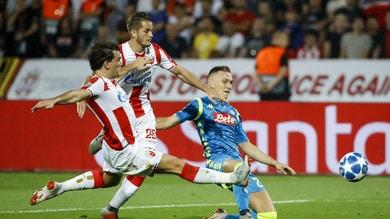Champions League Stella Rossa-Napoli 0-0, il tabellino