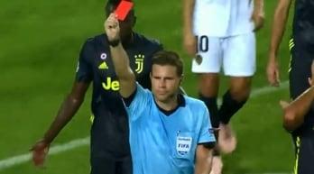 Valencia-Juventus, scandaloso rosso a Ronaldo al 29'