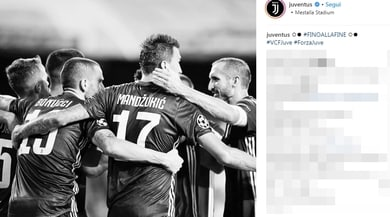 La Juventus fa festa sui social: «Vittoria di squadra!»