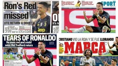 Ronaldo, il pianto su tutte le prime pagine d'Europa